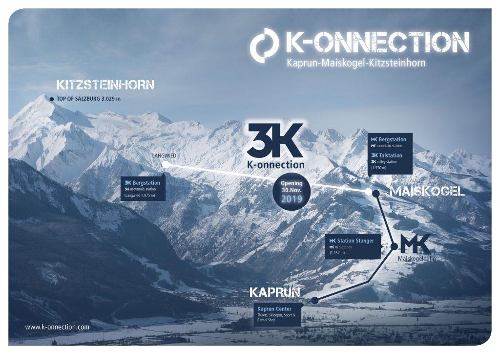 New 3k K-onnection lift in Kaprun