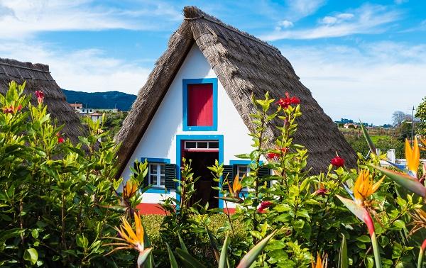 Maison typique village de Santana Madère