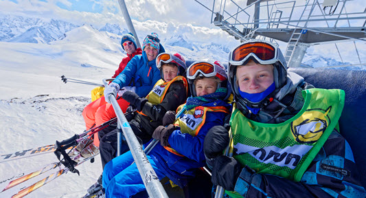 Ski holiday with Children