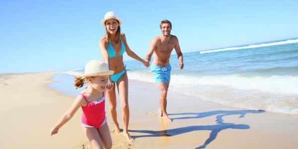 moments en famille à la plage