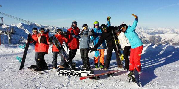 Team in Les Deux Alpes