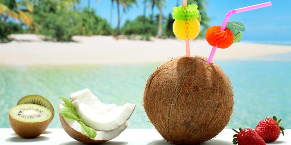 Kokosnoot strand