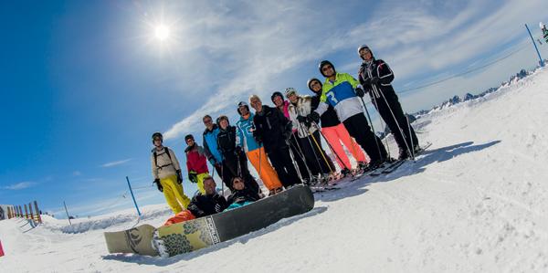 groep wintersport