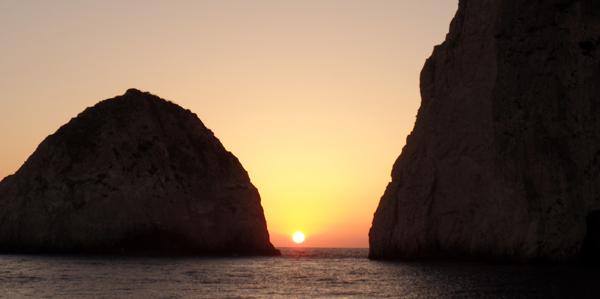 Sunset cruise, Zakynthos