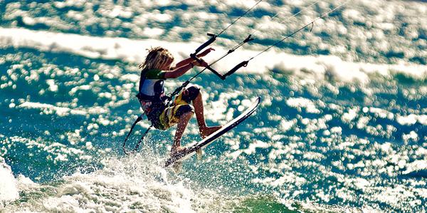 Limnos kite surfing