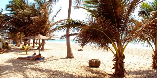 Genieten strand Gambia