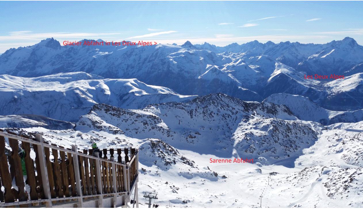 Aussicht von Alpe d 'Huez