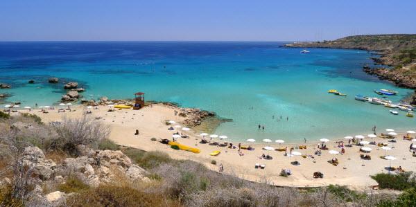 Strand Zuidoost Cyprus