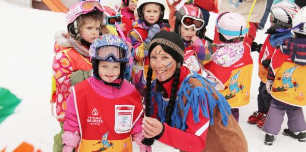 kindvriendelijke wintersport kidsclub