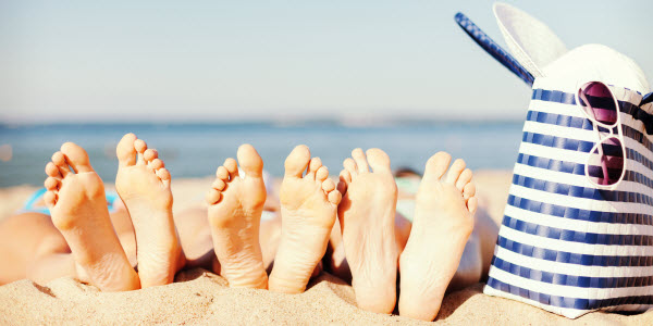 50 tinten bruiner - zonnen op het strand