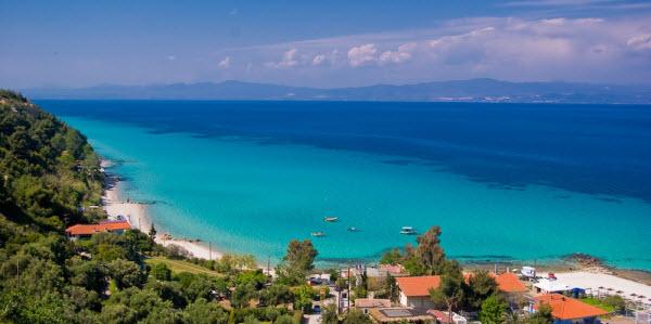 Het schitterende uitzicht bij Afitos - Chalkidiki
