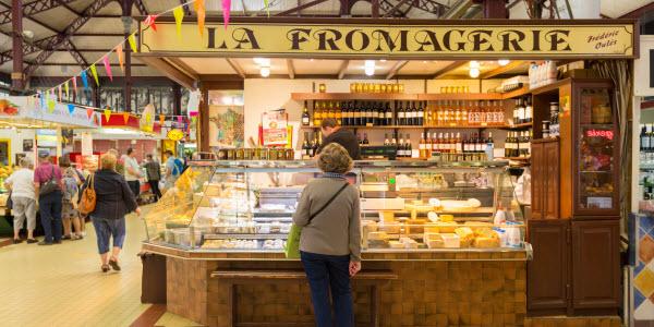 Markt van Narbonne in Languedoc-Roussillon