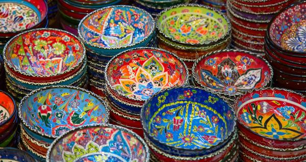 wphandgeschilderde schaaltjes turkse turkije