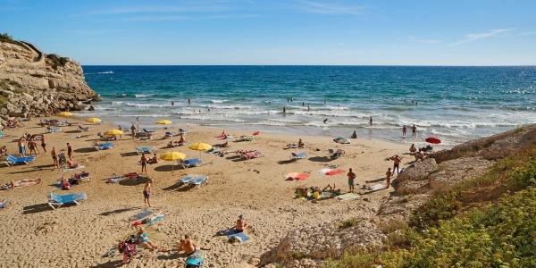Platja dels Llenguadets. Salou, Tarragones, Tarragona