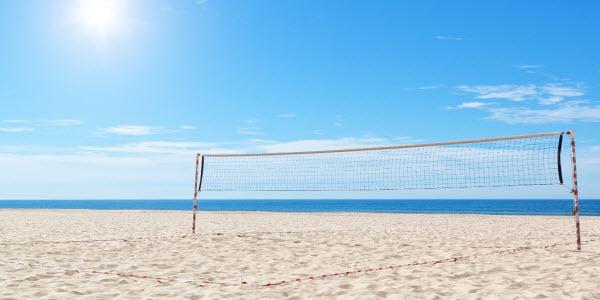 Fit tijdens de vakantie - beachvolleybal