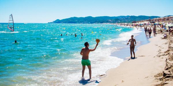 Fit tijdens de vakantie - beachball
