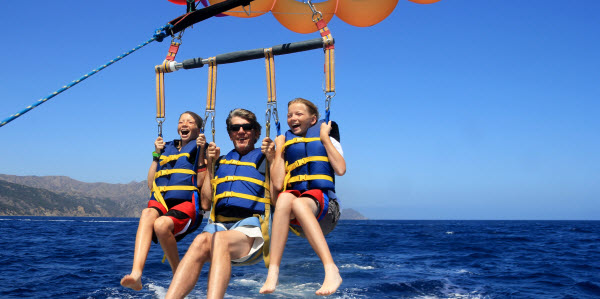 Parasailing Father Daughters Mannen