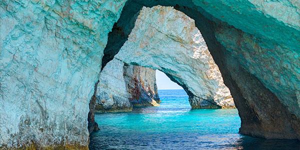 blue caves greece