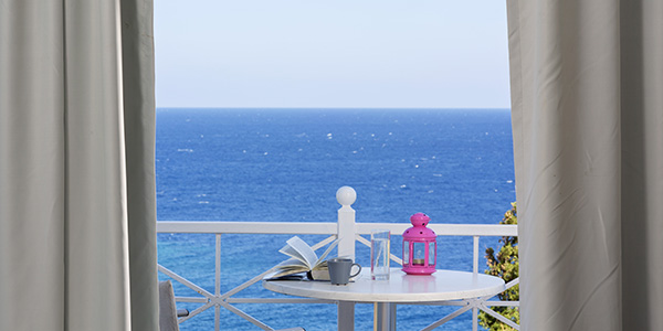 Uitzicht vanuit kamer van Selections hotel