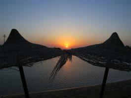 sundown egypt egypte rode zee
