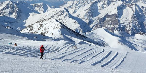les Deux alpes gletsjer snowpark