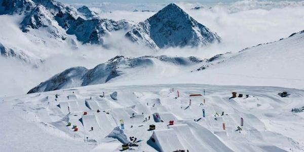 Stubai snowpark gletsjer