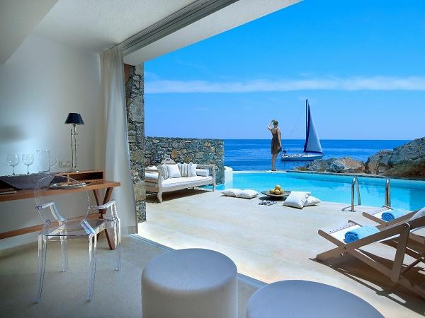 hotel Excellent St Nicolas Bay chambre vue sur mer