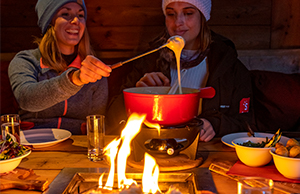 Alpine feeling at home with fondue